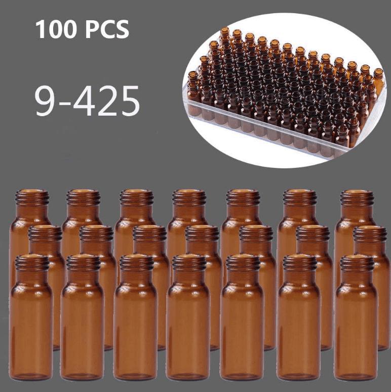 Autosampler Vials 2ml HPLC Vials Amber Sample Vials Screw top 9-425 Type Threaded Vial