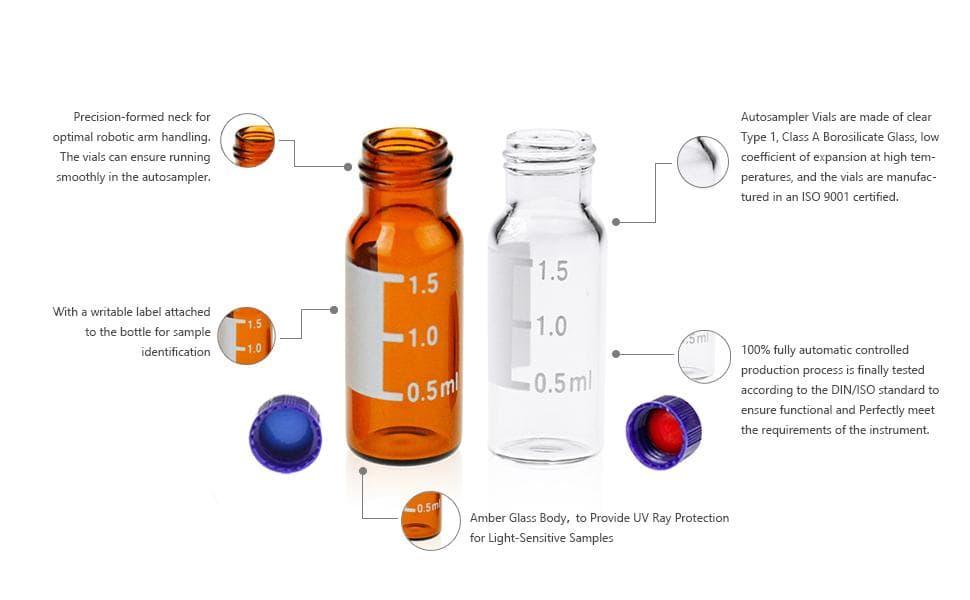 Aijiren 2ml 9mm autosampler vials