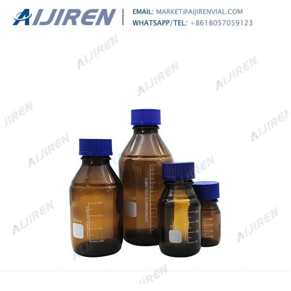amber 1000ml media bottle with GL45 screw caps