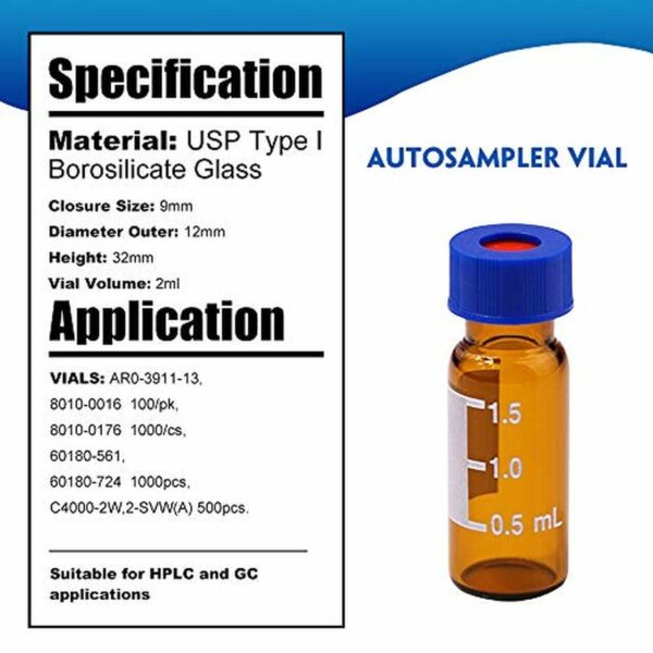 China 2ml 9mm HPLC Vials Supplier Manufacturer and Factory