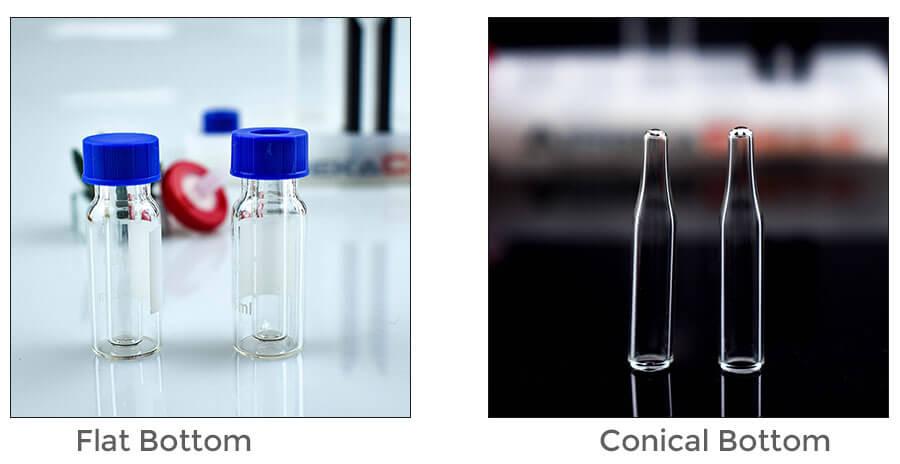 flat bottom of hplc vials insert